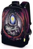 Pizoff Doulbe Mesh Padded Adjustable Shoulder Straps Cute Cartoon Galaxy Print Zipper School Bookbags Rucksack Travel Laptop Backpacks Boys Girls Y1799-57