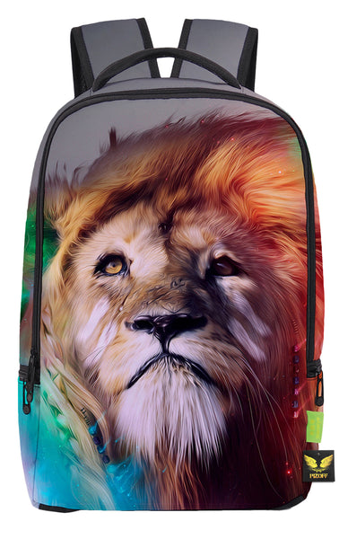 Pizoff Doulbe Mesh Padded Adjustable Shoulder Straps Cute Colorful Lion Print Zipper School Bookbags Rucksack Travel Laptop Backpacks Boys Girls Y1799-66