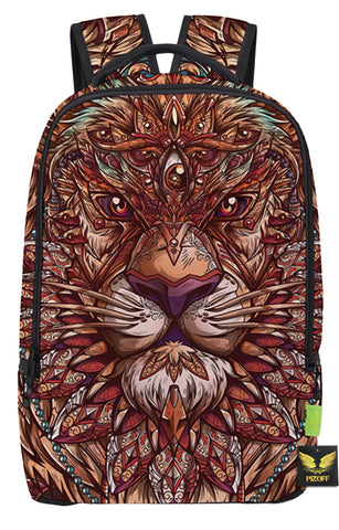 Pizoff Doulbe Mesh Padded Adjustable Shoulder Straps Cute Colorful Lion Print School Bookbags Rucksack Travel Laptop Backpacks Boys Girls Y1799-74