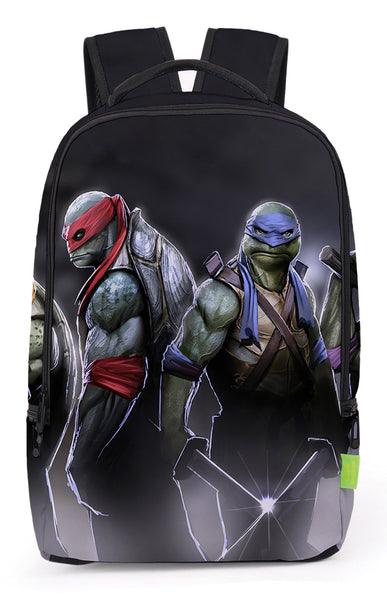 Pizoff Cute Teenage Mutant Ninja Turtles Print School Bookbags School Backpack Rucksack Travel Laptop Backpacks Boys Girls Y1799-80