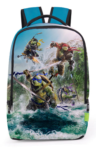 Pizoff Cute Teenage Mutant Ninja Turtles Print School Bookbags School Backpack Rucksack Travel Laptop Backpacks Boys Girls Y1799-81