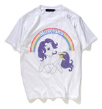 Pizoff Unisex Short Sleeve Unicorn Themes Printing T-Shirt Y1834