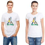 Pizoff Unisex Short Sleeve Rick&Morty Themes Printing T-Shirt Y1897-24