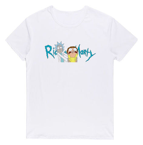 Pizoff Unisex Short Sleeve Rick&Morty Themes Printing T-Shirt Y1897-26
