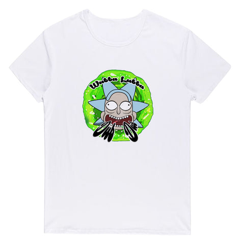 Pizoff Unisex Short Sleeve Rick&Morty Themes Printing T-Shirt Y1897-30
