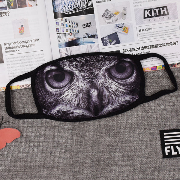 Pizoff Owl Streetstyle Cotton Comfortable Mask Y1898-21