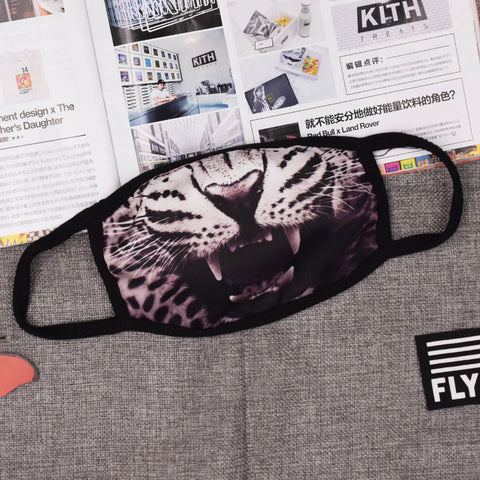Pizoff White Panther Streetstyle Cotton Comfortable Mask Y1898-25
