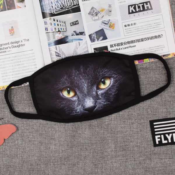 Pizoff Cat Streetstyle Cotton Comfortable Mask Y1898-26