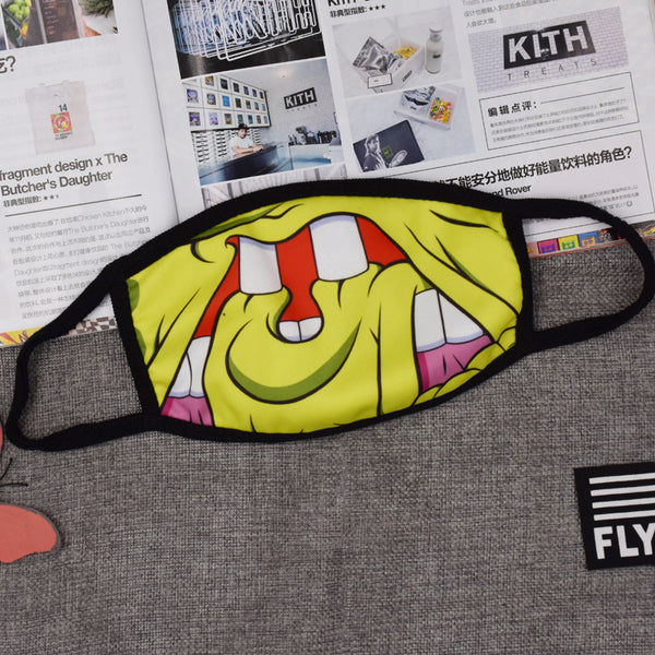 Pizoff Spongebob Streetstyle Cotton Comfortable Mask Y1898-27