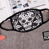 Pizoff Skull Art Streetstyle Cotton Comfortable Mask Y1898-29