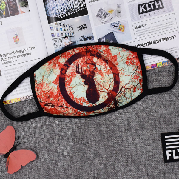 Pizoff 3D Print Streetstyle Cotton Comfortable Mask Y1898-45