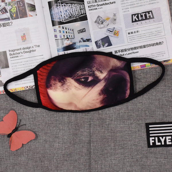 Pizoff Pug Print Streetstyle Cotton Comfortable Mask Y1898-51