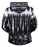 Pizoff Unisex Funny Print Hoodie Coat Long Sleeve With Front Pocket Y1901-02