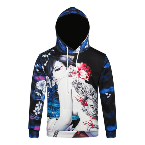 Pizoff Unisex July 3D Digital Print Hoodie With Pockets Y1902-02