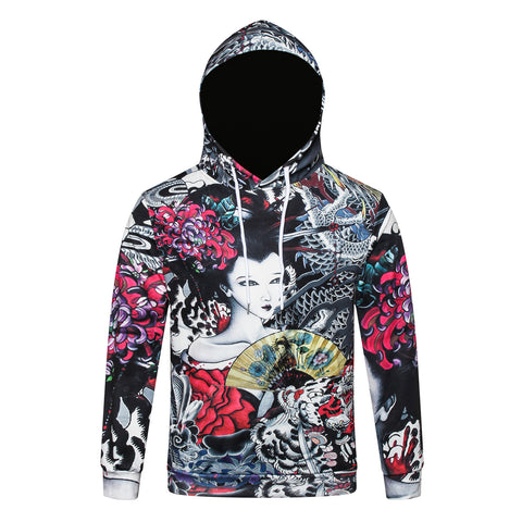 Pizoff Unisex July 3D Digital Print Hoodie With Pockets Y1902-03