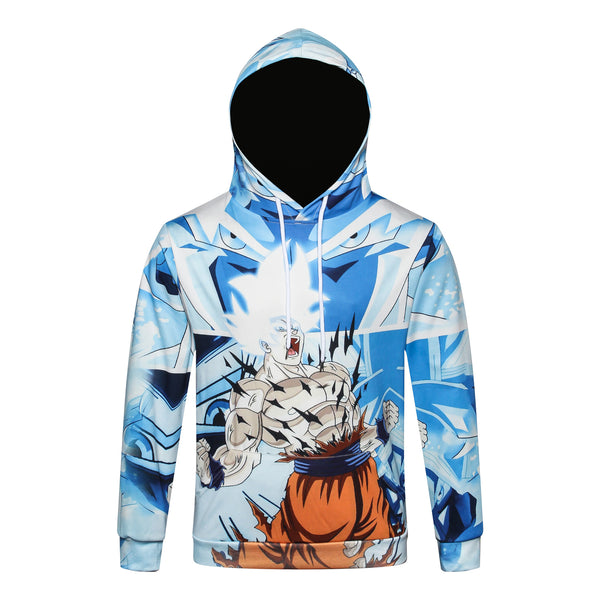 Pizoff Unisex July 3D Digital Dragon Ball Print Hoodie With Pockets Y1902-05