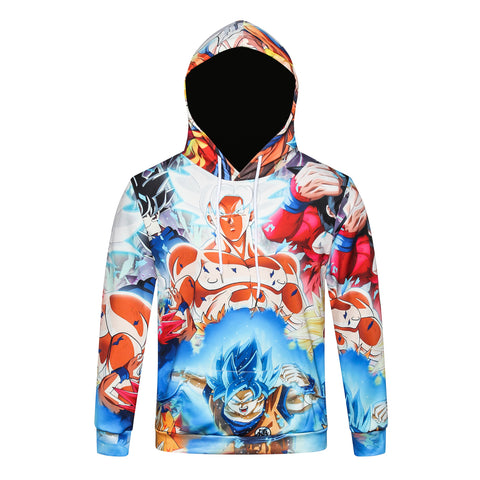 Pizoff Unisex July 3D Digital Dragon Ball Print Hoodie With Pockets Y1902-06