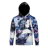 Pizoff Unisex July 3D Digital Print Hoodie With Pockets Y1902-12