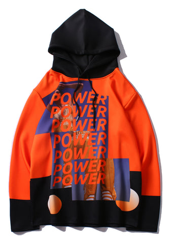 Pizoff Unisex Pop-up Hipster Hip-hop Streetstyle Hoodie Without Pockets Y1903-07