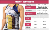 Pizoff Unisex 3D Dragon Ball Z Cartoon Print Work Out Compression Muscle Tank Top Y1783-19
