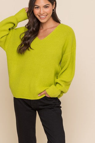 Lime Pullover Sweater