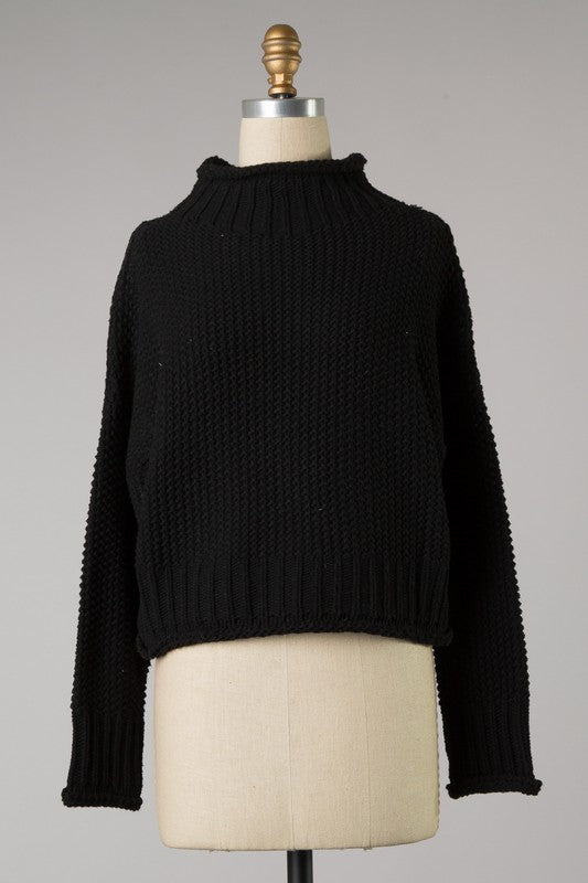 Black Piper Turtleneck Sweater - SISTER LB