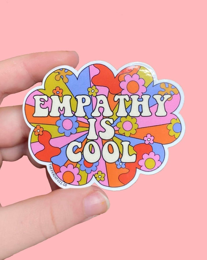 The Peach Fuzz - Empathy Is Cool Sticker