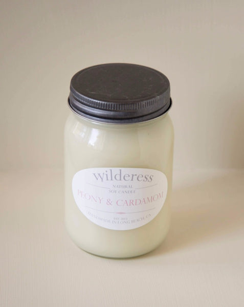 Wilderess - Peony & Cardamom 90 Hour Soy Candle - SISTER LB
