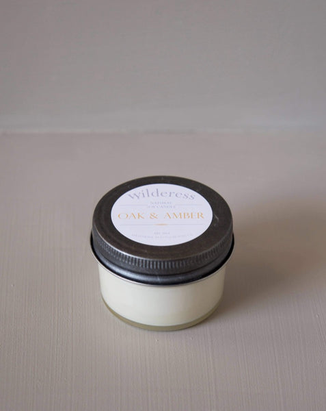 Wilderess - Oak and Amber 20 Hour Soy Candle - SISTER LB