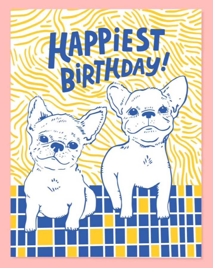 Frenchie Bday Card - SISTER LB