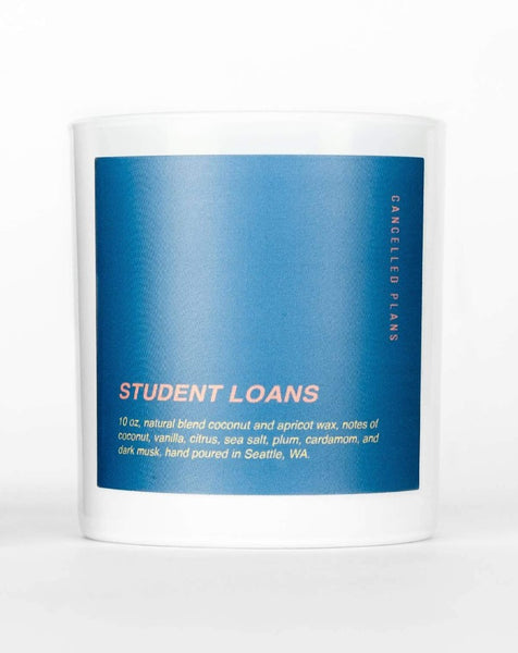 Cancelled Plans - Student Loans Candle