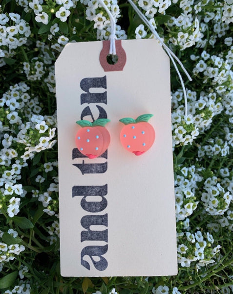 Gummy Peach Earrings