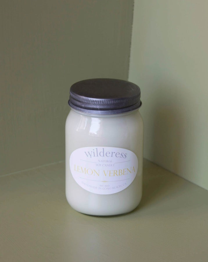 Wilderess - Lemon Verbena 90 Hour Soy Candle - SISTER LB