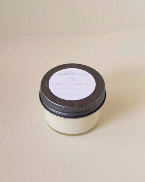 Wilderess - Peony and Cardamom 20 Hour Soy Candle - SISTER LB