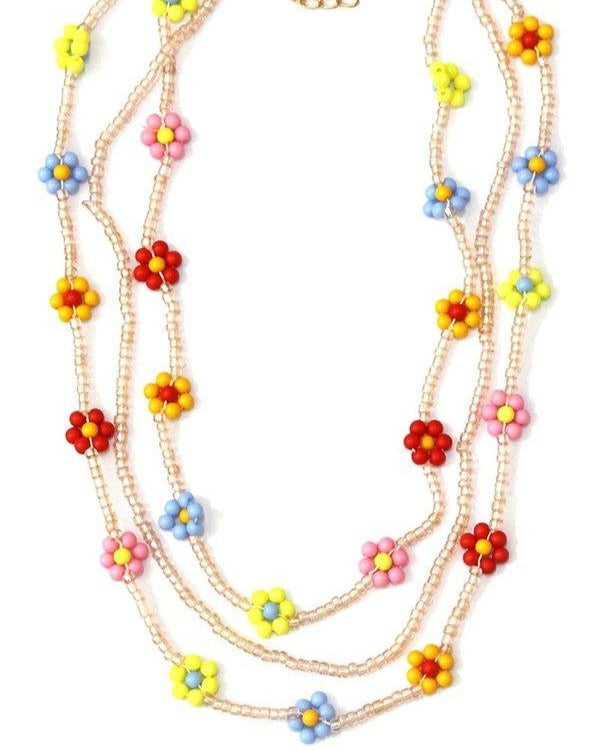 Beaded Flower Power Necklace
