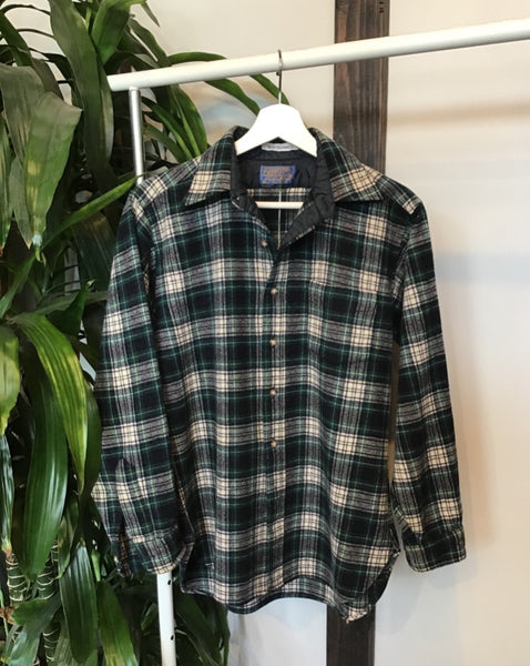 Cream and Green Vintage Pendleton
