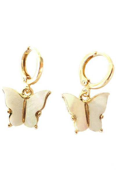 Mini Pearl Butterfly Earrings