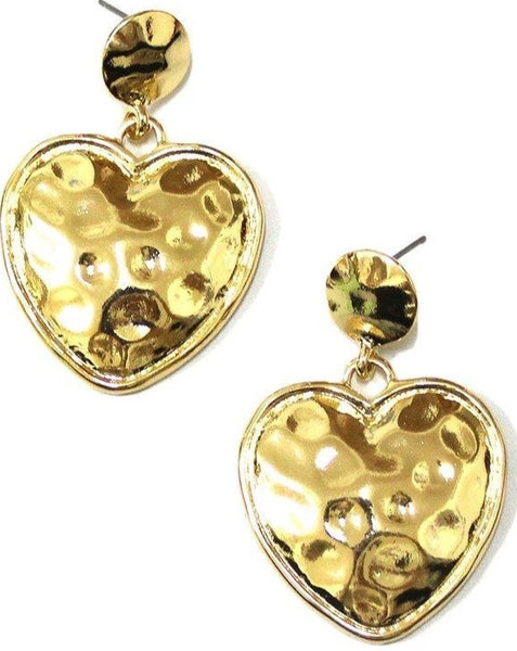 Gold Heart Susan Earrings - SISTER LB