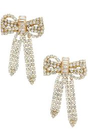 Rhinestone Bow Earrings - SISTER LB