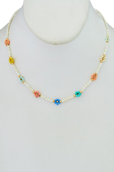 Beaded Floral Necklace - SISTER LB