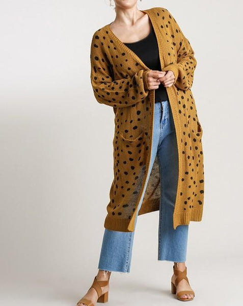 Abstract Leopard Cardigan