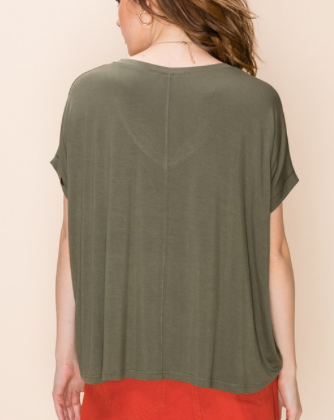 Oversized Boxy V Neck