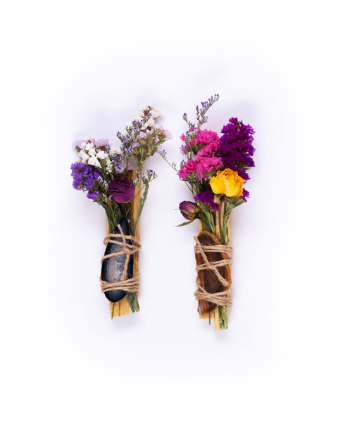 Palo Santo Floral Bundle With Agate