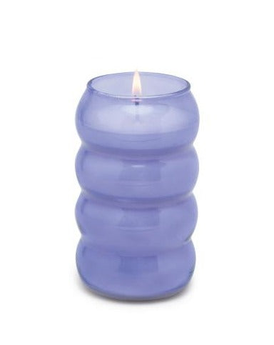 REALM 12 OZ PURPLE BUBBLE RIBBED GLASS - WISTERIA: FRESH AIR & WILLOW