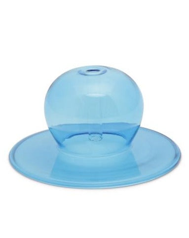 REALM BLUE GLASS BUBBLE INCENSE HOLDER