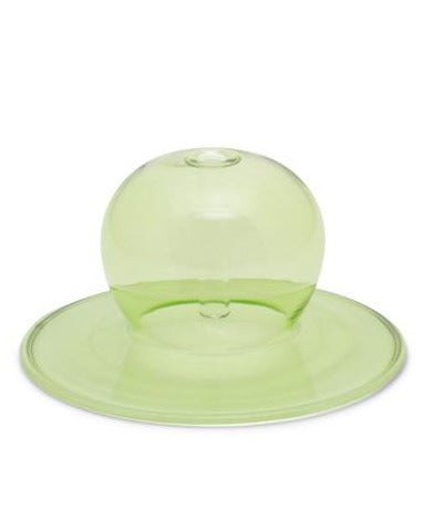 REALM GREEN GLASS BUBBLE INCENSE HOLDER