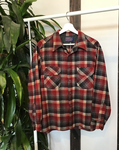 Red and Grey Plaid Pendleton