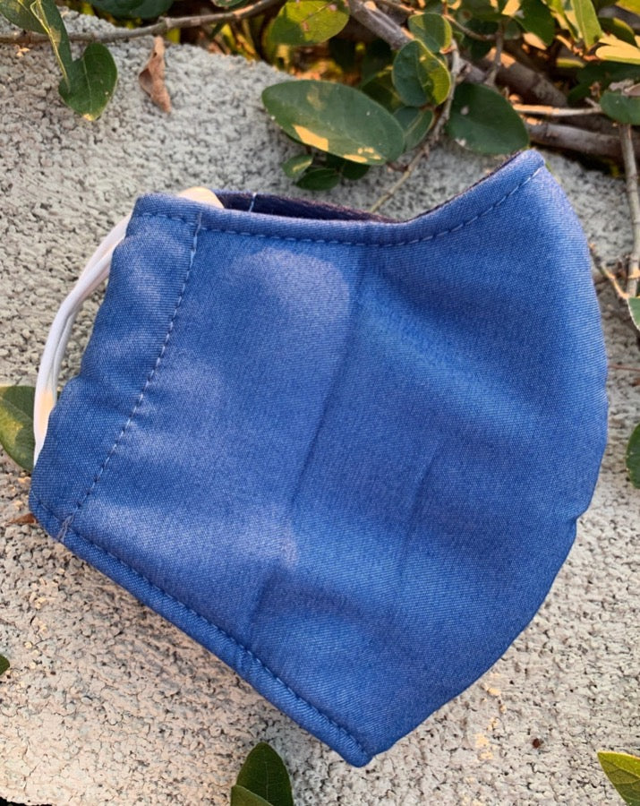 Solid Chambray Face Mask