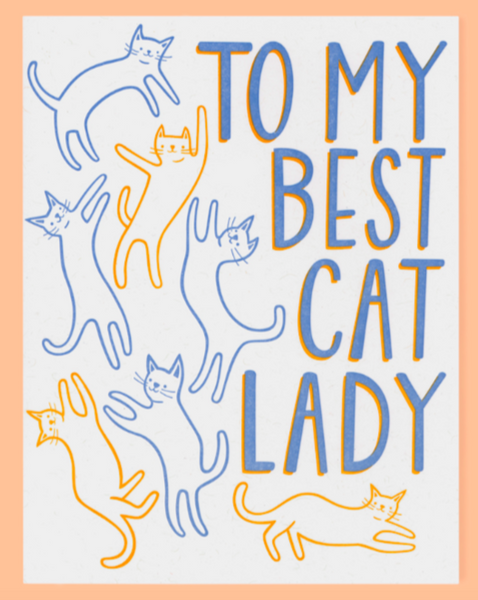 Cat Lady Card - SISTER LB