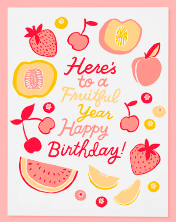 Fruitful Birthday Card - SISTER LB
